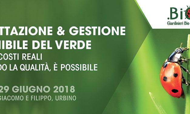 Programma del convegno: Progettazione e gestione sostenibile del Verde