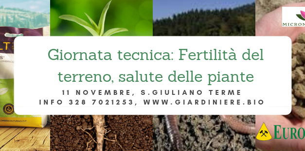 Giornata tecnica a Pisa: fertilità  del suolo e salute delle piante